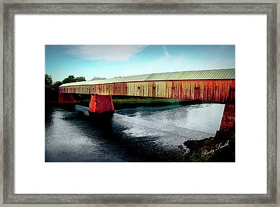 The Cornish-windsor Covered Bridge  Framed Print