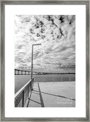 The Coronado Bridge San Diego California Framed Print