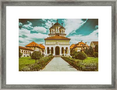 The Coronation Cathedral In Alba Iulia, Romania Framed Print