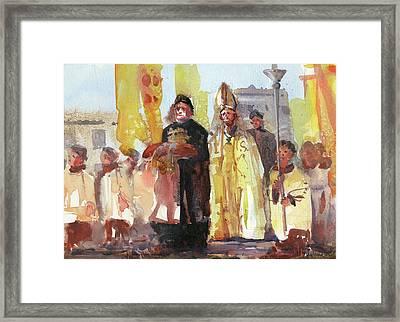 The Coronation Framed Print by Kristina Vardazaryan