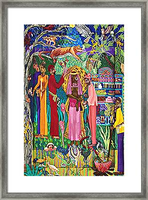 The Coronation Framed Print by Maria Alquilar