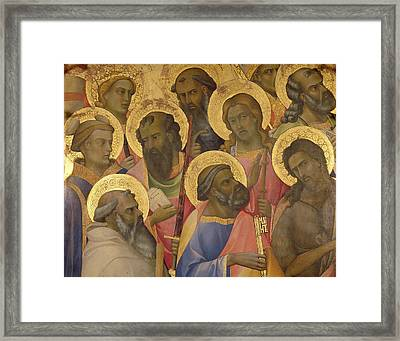 The Coronation Of The Virgin Framed Print by Lorenzo Monaco