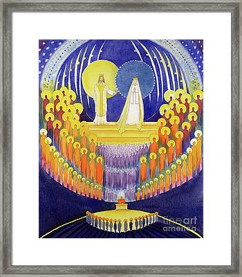 The Coronation Of The Virgin Mary And The Glory Of All The Saints Framed Print