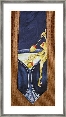 The Corporate Lunch Framed Print by David Kelly