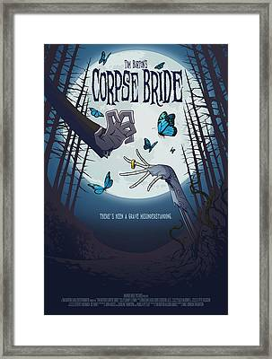The Corpse Bride Alternative Poster Framed Print by Christopher Ables