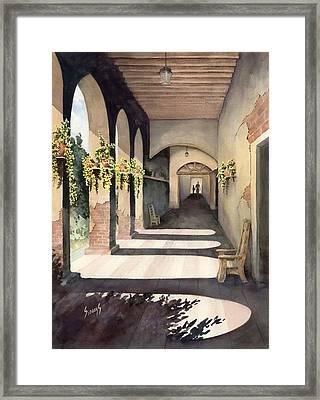 The Corridor 2 Framed Print by Sam Sidders