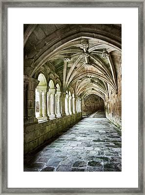 The Corridors Of The Monastery Framed Print
