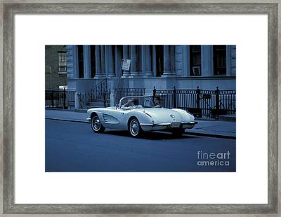 The Corvette Framed Print by Marc Bittan