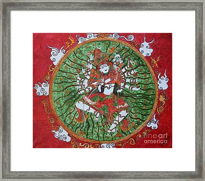 The Cosmic Dancer Framed Print by Saranya Haridasan