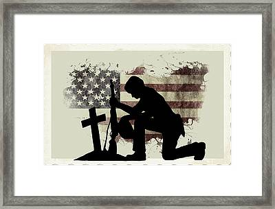 The Cost Of Freedom Framed Print