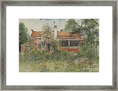 The Cottage Framed Print by Carl Larsson