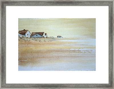 the cottages on BH Island Framed Print by Amy Bernays