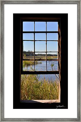 The Cotton Dock Framed Print