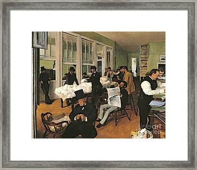 The Cotton Exchange Framed Print