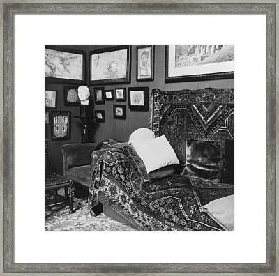 The Couch In The Consulting Room Framed Print by Everett