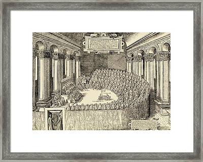 The Council Of Trent, 1563. The Framed Print by Vintage Design Pics