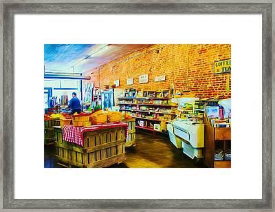 The Country Market Framed Print by Barry Jones
