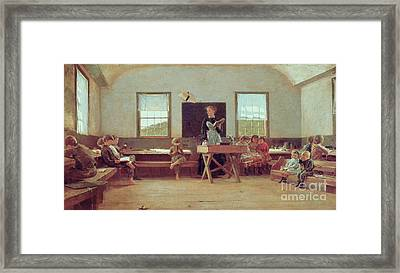 The Country School Framed Print