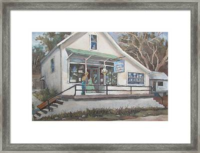 Framed Print featuring the painting The Country Store by Tony Caviston