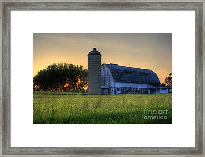 The Country Sunset Framed Print