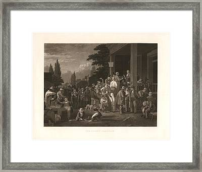 The County Election Framed Print