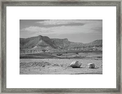 the couple of stones in the desert II Framed Print
