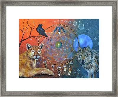 The Courage To Be Free Framed Print by Sundara Fawn