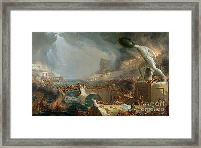 The Course Of Empire - Destruction Framed Print by Thomas Cole