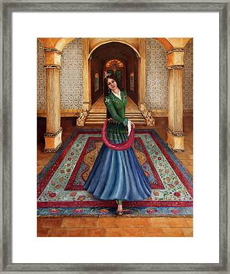 The Court Dancer Framed Print