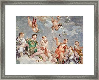 The Court Of Love  Framed Print