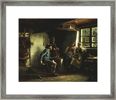 The Courtship Framed Print by Emil Karl Rau