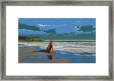 The Courtship Of Sand Framed Print by Dieter Carlton