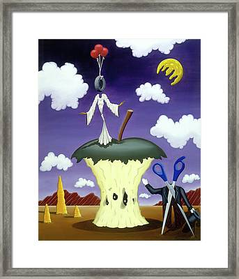 Framed Print featuring the painting The Courtship by Paxton Mobley