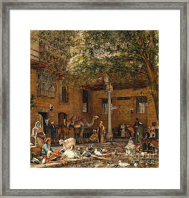 The Courtyard Of The Coptic Patriarch's House In Cairo Framed Print by MotionAge Designs