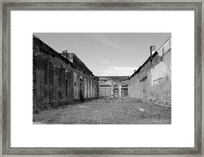 The Courtyard Framed Print by Robert Wilder Jr