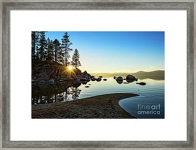 The Cove At Sand Harbor Framed Print