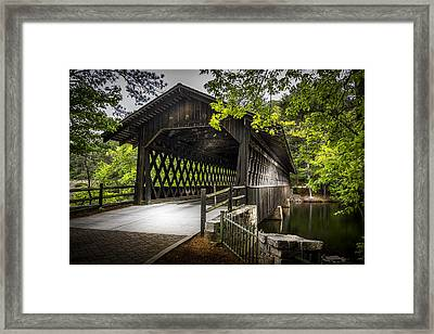 The Coverd Bridge Framed Print by Marvin Spates