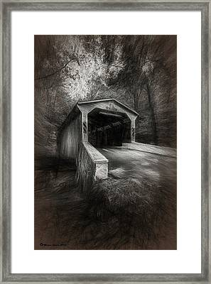 The Covered Bridge Framed Print by Marvin Spates