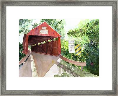 The Covered Bridge Framed Print by Vickey Swenson