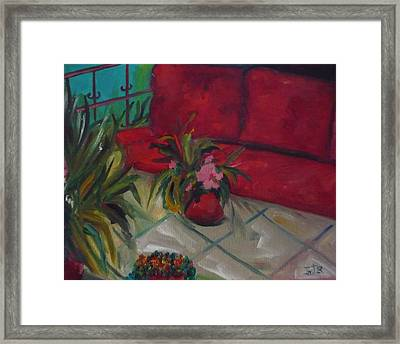 The Covered Terrace Framed Print by Irit Bourla