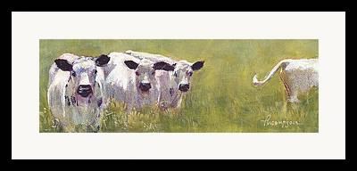 Three Cows Framed Prints