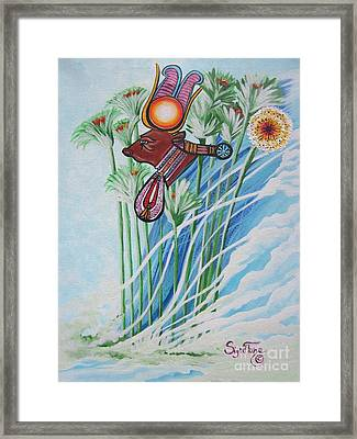 The Cow Goddess - Hathor Framed Print by Sigrid Tune