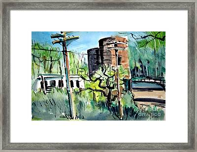 The Cow Shed Matted Glassed Framed Framed Print
