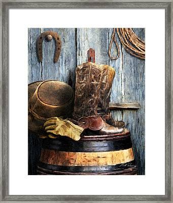 The Cowboy Framed Print by Bill Fleming