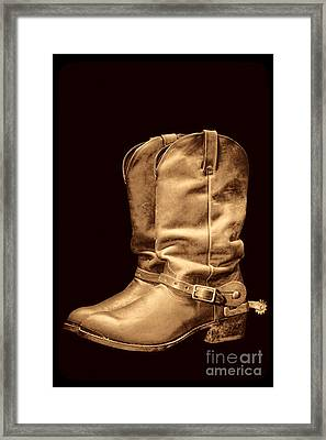 The Cowboy Boots Framed Print