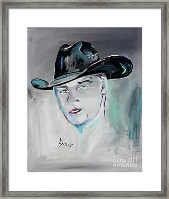 The Cowboy - Cowboy Art By Valentina Miletic Framed Print