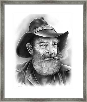 The Cowboy Framed Print by Greg Joens