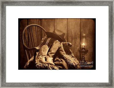 The Cowgirl Rest Framed Print by American West Legend By Olivier Le Queinec