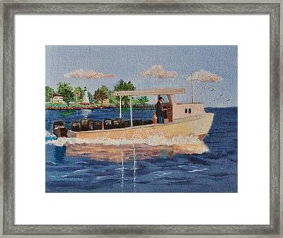 The Crab Fisherman Leaving Havre De Grace Framed Print by Jeannie Allerton