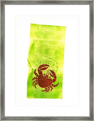 The Crab Framed Print by Jean Paul Thierevere